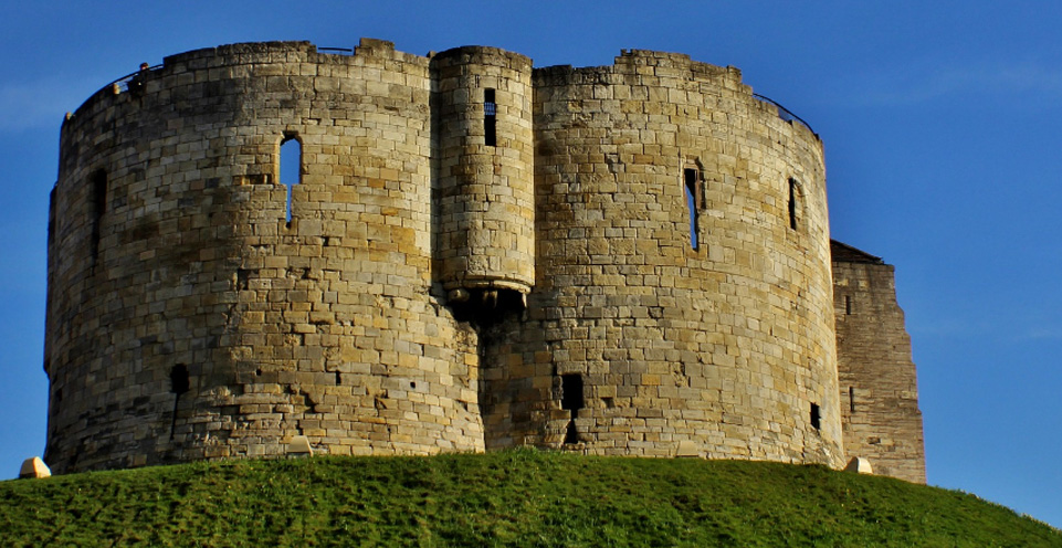 a photograph of Clifford's Tower in York