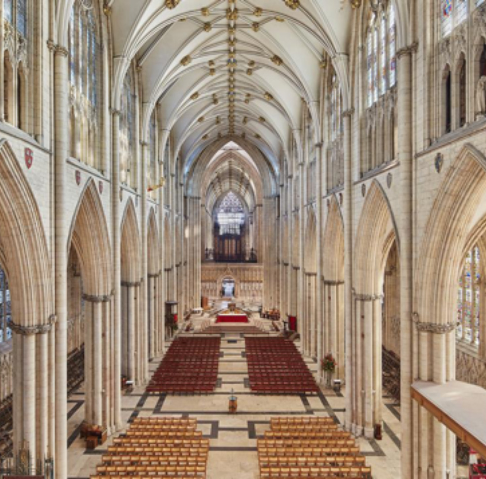 photograph of the nave of York Minster looking towards the altar