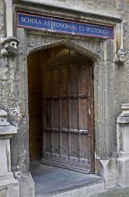 Doorway to the Astronomy and Rhetoric Schools at Oxford University