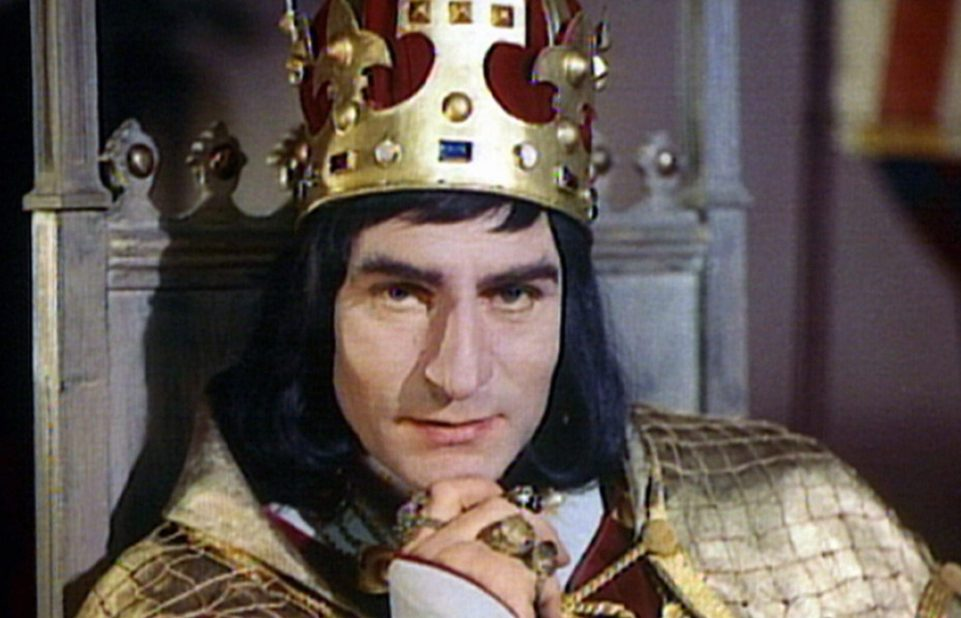Laurence Olivier in character as Richard III