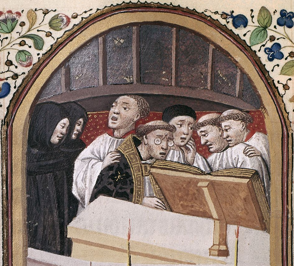 Monks saying Mass: British Library MS Harley 2971