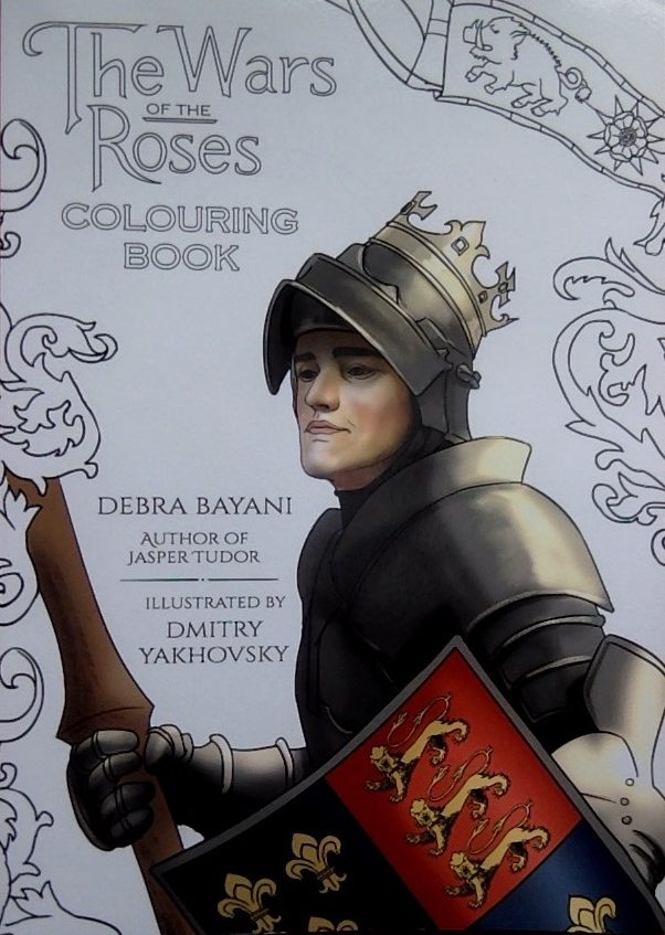 Front cover of colouring book on the Wars of the Roses