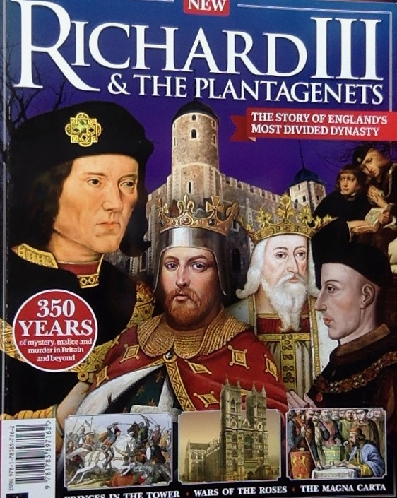 Front cover of a magazine on Richard III and the Plantagenets
